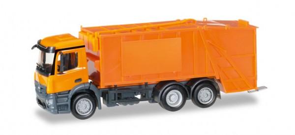 HERPA 307048 Mercedes-Benz Antos Pressmüllwagen, orange, unbedruckt