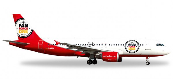 "Herpa 526920 airberlin Airbus A320 ""Fan Force One"""