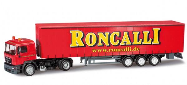 HERPA 303033 MAN F2000 Gardinenplanen-Sattelzug Roncalli