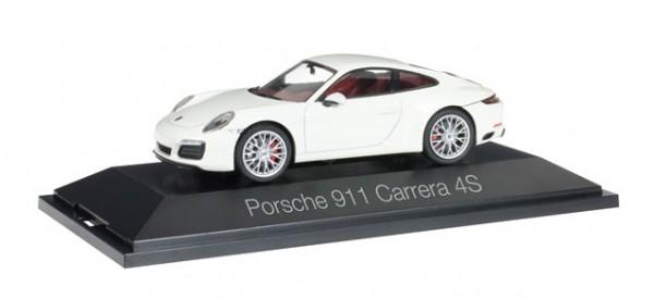 HERPA 071048 Porsche 911 Carrera 4S Coupé, weiß