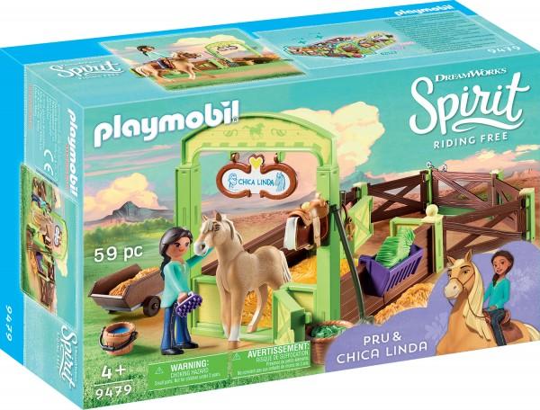 PLAYMOBIL® 9479 Pferdebox Pru & Chica Linda