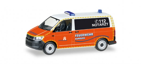 """HERPA 092890 VW T6 Bus """"Notarzt Feuerwehr Hamburg"""""""