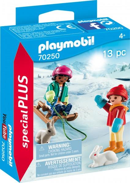 PLAYMOBIL® 70250 Kinder mit Schlitten
