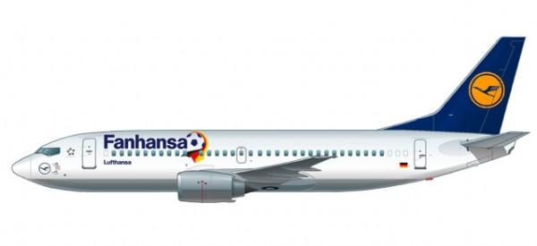 """HERPA 611220 Lufthansa """"Fanhansa"""" Boeing 737-300"""