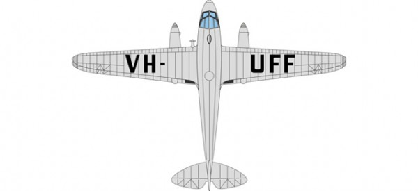 HERPA 8172DR013 DH Dragon Rapide VH-UFF Australian National Airways