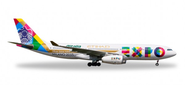 "HERPA 529501 Etihad Airways Airbus A330-200 ""Expo Milano"""