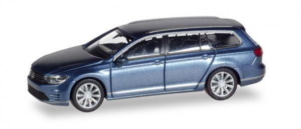 HERPA 038980 VW Passat Variant GTE E-Hybrid, havardblue metallic