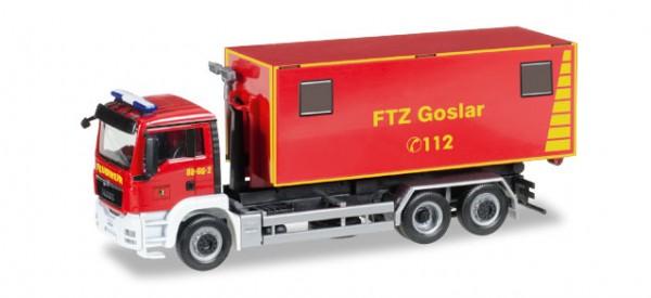 """HERPA 092722 MAN TGS M Wechsellader """"Feuerwehrtechnische Zentrale Goslar"""