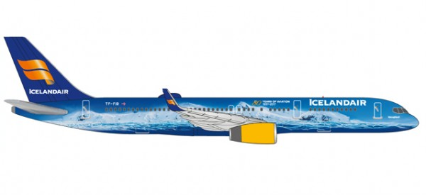 "HERPA 531108 Icelandair Boeing 757-200 ""80 Years of Aviation"" - TF-FIR ""Vatnajökull"""