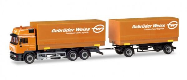 HERPA 309134 Steyr F 2000 Wechselpritschen-Hängerzug - Gebrüder Weiss (A)