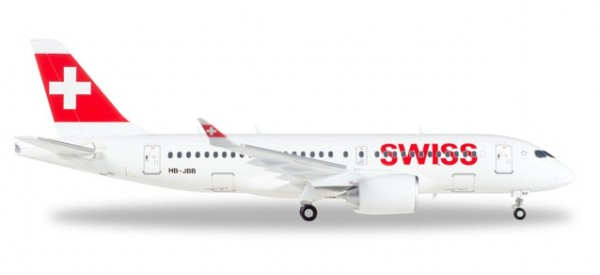 "HERPA 558471-001 Swiss International Air Lines Airbus A220-100 ""Canton de Genève"""