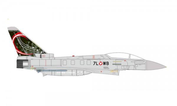 """HERPA 580649 AUSTRIAN AIR FORCE EUROFIGHTER TYPHOON - ÜBERWACHUNGSGESCHWADER, ZELTWEG AIR BASE """"AUST"""