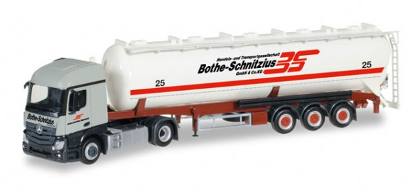 "HERPA 306331 Mercedes-Benz Actros Streamspace 2.3 ADR-Silo-Sattelzug ""Bothe-Schnitzius"""