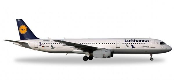 """HERPA 558563 Lufthansa Airbus A321 """"25 Jahre Kranichschutz"""" - D-AIRR """"Wismar"""""""