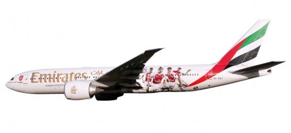 """HERPA 611060 Emirates Boeing 777-200LR """"Arsenal London"""""""