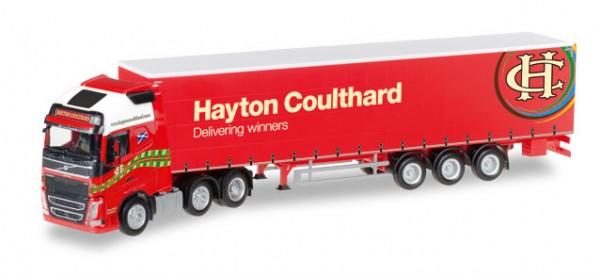 """HERPA 306485 Volvo FH Gl. XL Gardinenplanen-Sattelzug """"Coulthard"""" (GB)"""