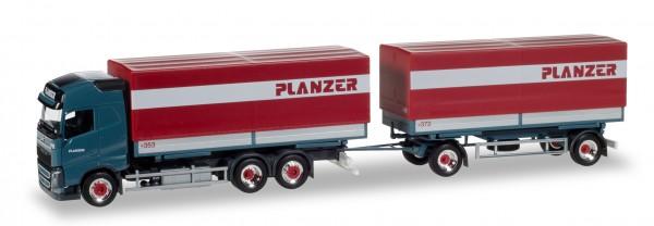 Herpa 929400 Planzer Volvo FH Gl Pritschen-Planen-Hängerzug