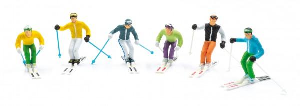 JC54400 6 Figuren stehend mit HEAD Schi und Skistöcken
