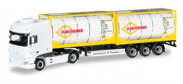 "HERPA 306829 DAF XF SSC Euro 6 Tankcontainer-Sattelzug ""Eurotaine"""