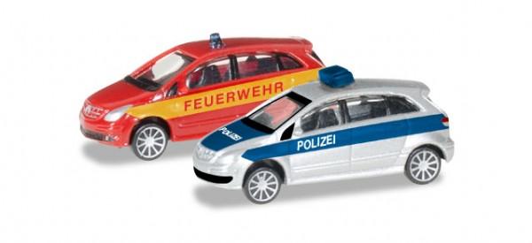 """HERPA 066549 Mercedes-Benz B-Klasse """"Polizei / Feuerwehr"""""""