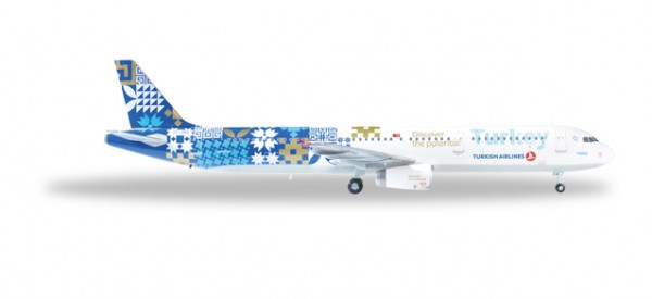 """HERPA 557900 Turkish Airlines Airbus A321 """"Turkey, Discover the Potential"""""""