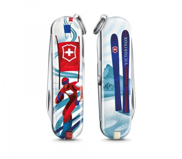 """VICTORINOX 0.6223.L2008 Classic, 58 mm """"Ski Race"""" Limited Edition 2020"""
