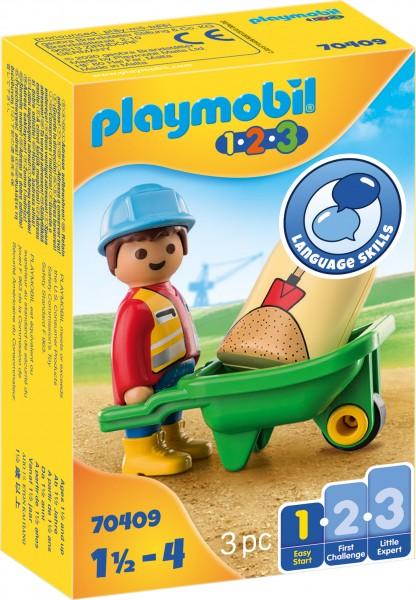 PLAYMOBIL® 70409 Bauarbeiter mit Schubkarre