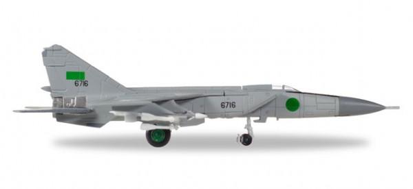 HERPA 558907 Libyan Air Force Mikoyan Gurevich MiG-25PD - 1025th Aerial Squadron, Al Jufra AB - Gul